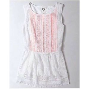 Anthro One September Coraline lace peplum top XS